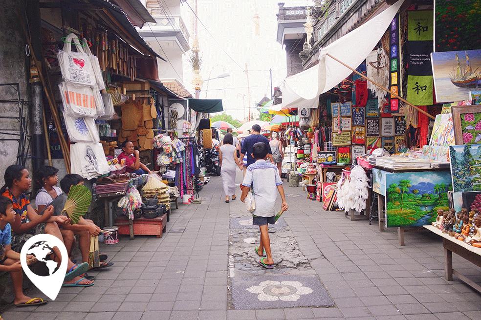 Ubud met kinderen - de markt