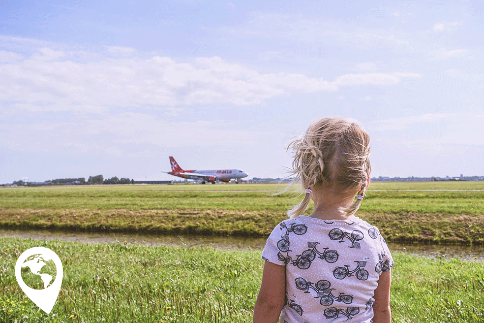 herfstvakantie uitje met kinderen, Vliegtuigen spotten Schiphol Polderbaan