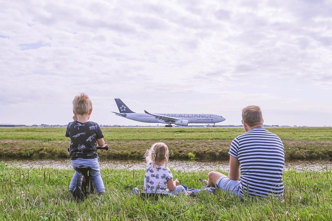 Vliegtuigen spotten Schiphol Polderbaan