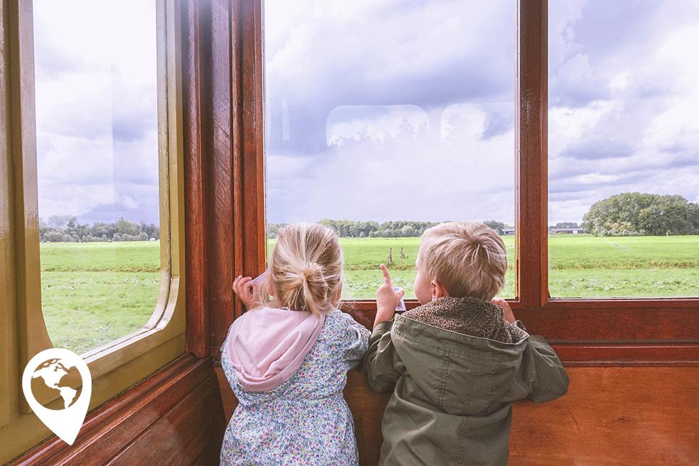 herfstvakantie uitjes met kinderen, stoomtrein Katwijk-Leiden