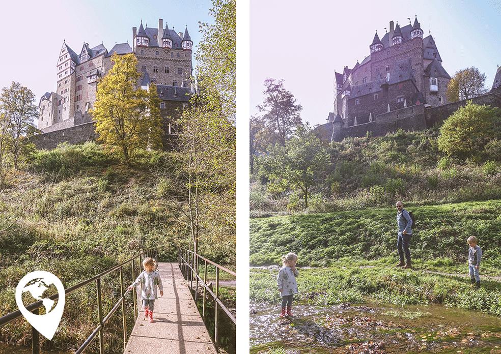 Burg Eltz met kinderen - beekje