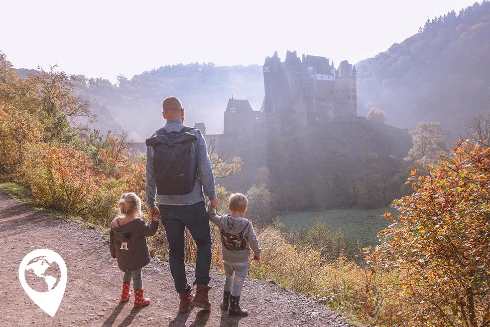 Burg Eltz met kinderen - uitkijkpunt