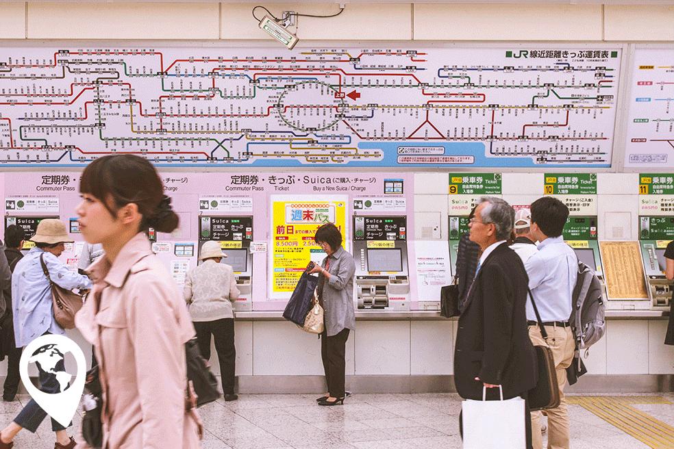Traveltag, De metro in Tokyo, Japan