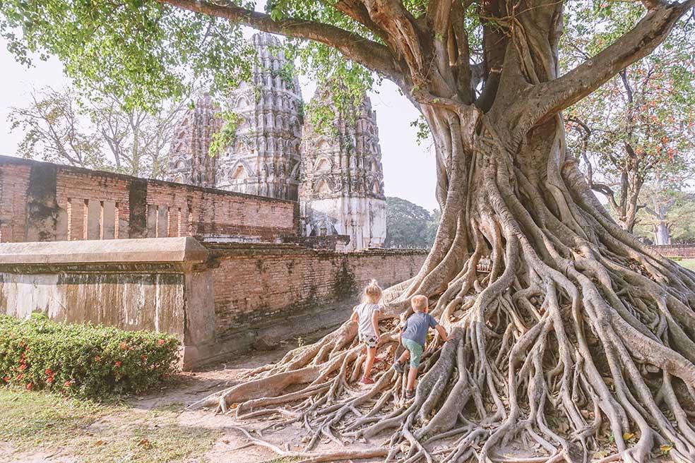 Sukhothai met kinderen: het Angkor Wat van Thailand