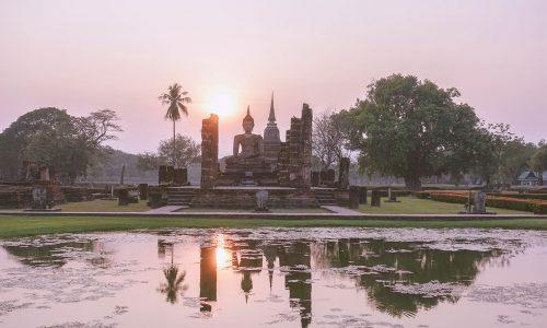 thailand-sukhotahi-old-town-zonsondergang