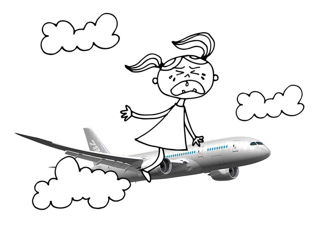 Soms zit het tegen: vliegtuigleed