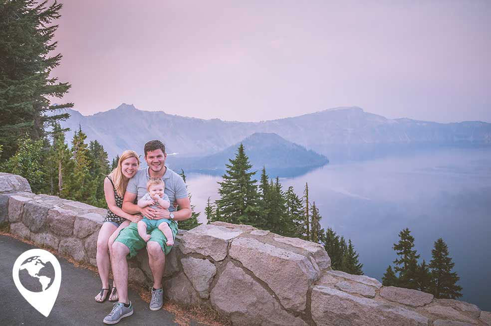 Amerika met kinderen - Crater Lake