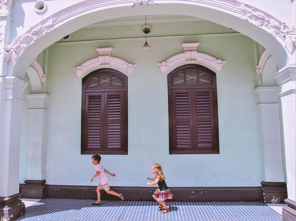 Phuket Old Town met kinderen
