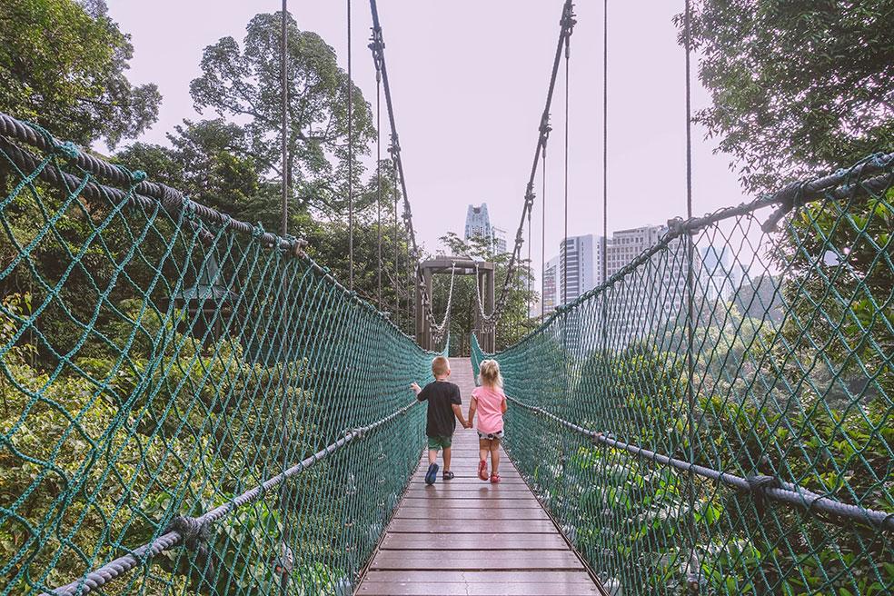 Kuala Lumpur met kinderen - Forest Eco Park