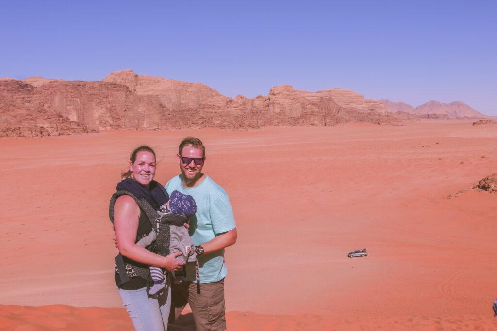 De route van Lizette – rondreis met huurauto en baby door Jordanië