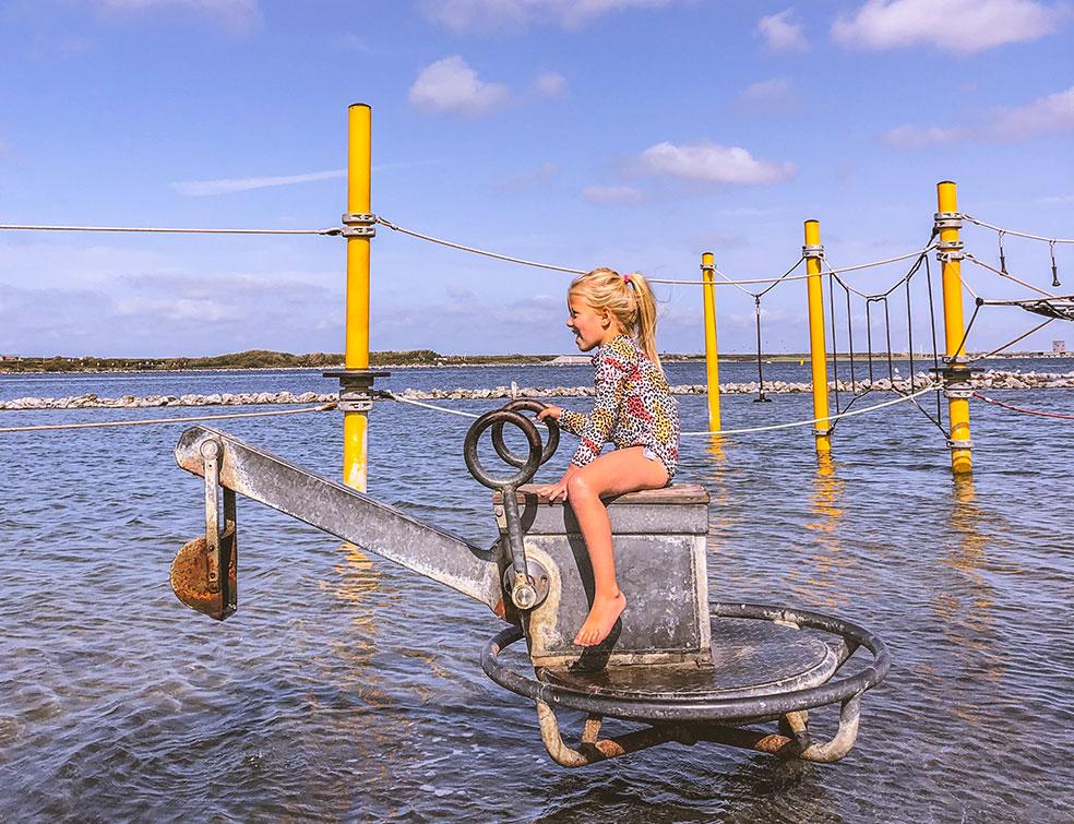 Schouwen-Duiveland met kinderen - waterspeeltuin bij het Grevelingenmeer