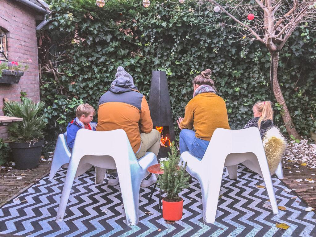 Wintervakantie in eigen tuin