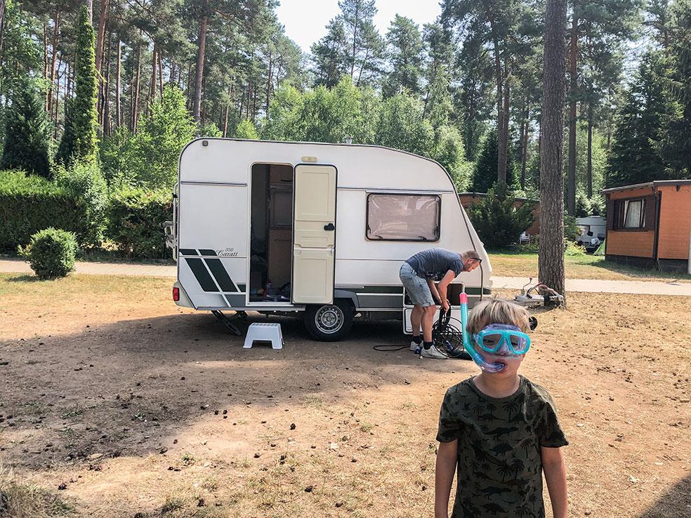 Op roadtrip met een caravan