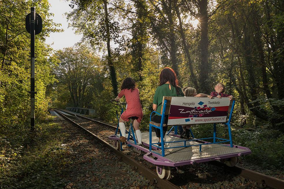 Spoorfietsen in Twente met kinderen