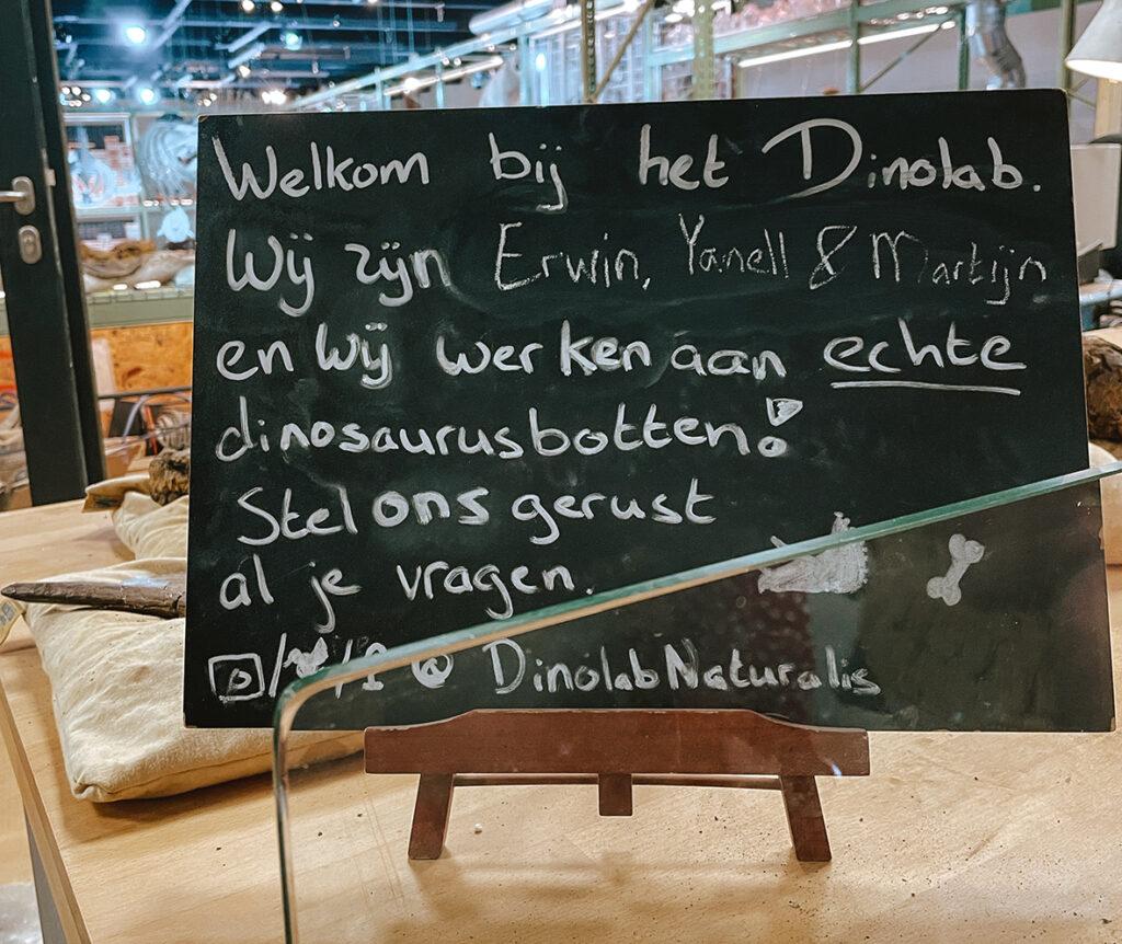 Dinolab in Naturalis